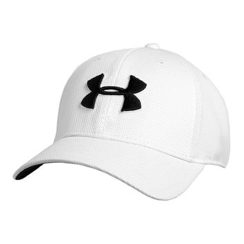 Blitzing II Stretch Fit Hat in White by Under Armour - FINAL SALE