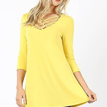 Caged Tunic - Yellow