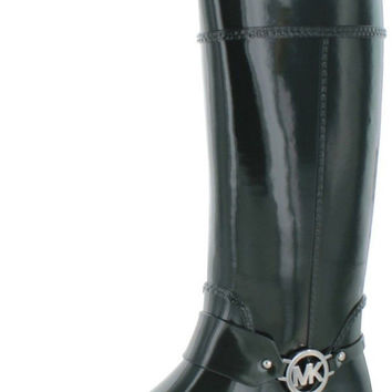 Michael Kors Fulton Harness Womens Rain Boots Waterproof Hunter Green 6 B(M) US