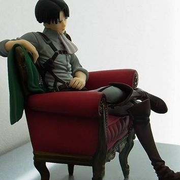 Cool Attack on Titan  Levi Action Figure 1/8 scale painted figure Sitting Sofa Ver. Levi Akerman PVC figure Toy Anime AT_90_11