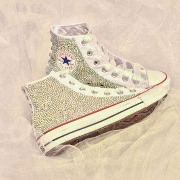 CREYON rhinestone converse bride custom bedazzled converse shoes quince era c27a28be80