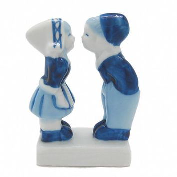 Delft Ceramic Kissing Couple Figurine