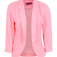 Carey Crepe Fited Tailored Jacket