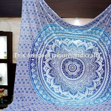 Madhu International Hippie Mandala Multi Purpose Cotton Cloth (108 by 90-Inch)