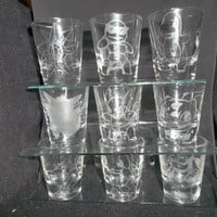 Any pokemon etched shot glass (One shot glass)