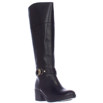 Bandolino Ulla Wide Calf Riding Boots - Black