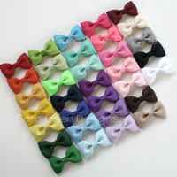 Tuxedo Hairbows You Choose 2 Custom Colors by SaraOlsenDesigns