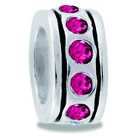 DaVinci Beads Small Pink CZ Wheel Jewelry