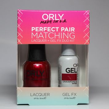ORLY Perfect Pair Nail Polish + Gelfx Duo Kit Crawford's Wine