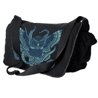 Handmade Gifts | Independent Design | Vintage Goods Octopus Owl Messenger Bag - Dark Side of Style
