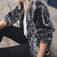 Skylar Belle Bomber Jacket - Charcoal