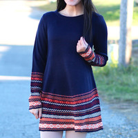 Nordic Sweater Dress {Navy}