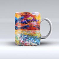 The Oil Painted Meadow ink-Fuzed Ceramic Coffee Mug