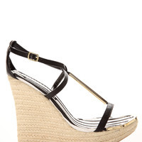 Metal Trim Espadrille Wedges