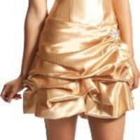 Strapless Satin Bubble Dress Prom Formal Holiday Party Cocktail Gown Bridesmaid