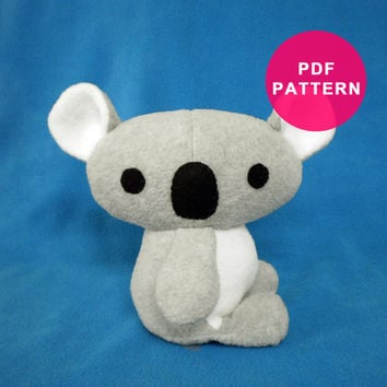 PDF Pattern - Sewing Pattern Plush Koala Bear Stuffed Animal