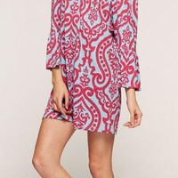Brenna Bulgari Print Bell Sleeve Tunic/Dress (2 Colors Available)