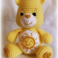 Care Bear; Funshine Bear ; CROCHET PATTERN PDF