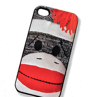 iPhone Case Monkey Sock Doll iPhone Hard Case by TheCuriousCaseLLC