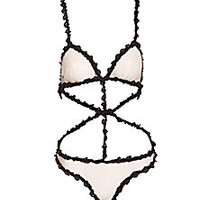 Fleur du Mal - Lace Bondage Bodysuit - Saks Fifth Avenue Mobile