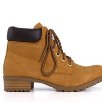 Soda Shoes Equity Lace Up Boots EQUITY-S-BLOND