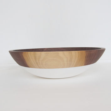 "12"" Slip Resistant Walnut Serving Bowl"