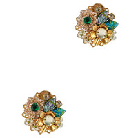 Mercedes Salazar EXCLUSIVE Fiesta Button Embellished Earrings - INTERMIX®