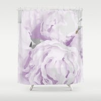 Peony Shower Curtain by KJ Designs