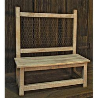 Weathered Wood Bench - *FREE SHIPPING*