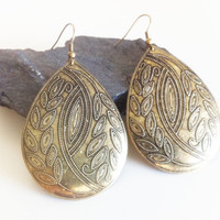 Old Gold Goddess Earrings by EridaneasBoutique on Etsy
