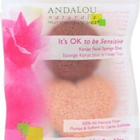 ANDALOU NATURALS: It's OK to be Sensitive Konjac Facial Sponge Duo, 2 pc