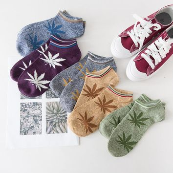 Peonfly Original Old Restore Ancient Ways Maple Leaves Happy Funny Socks men Man Socks Hemp Full Cotton Motion Socks