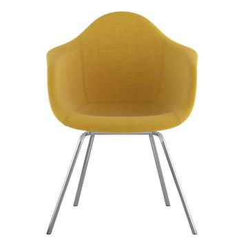 Mid Century Classroom Arm Chair Papaya Yellow
