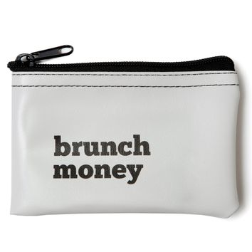 Brunch Money Coin Zip Pouch