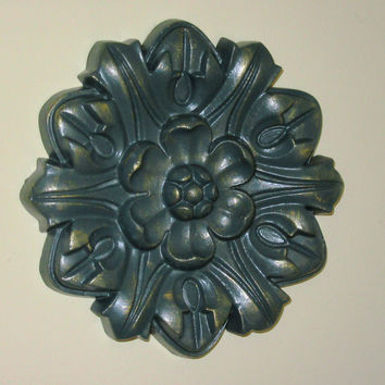 "Antiqued Ceiling or Wall Medallion, 8"" Ceiling Medallion, Ornate Medallion, ceiling medallion"