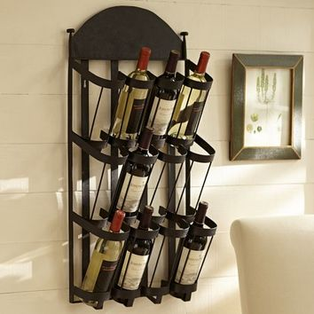 VINTNERS WALL-MOUNT WINE RACK