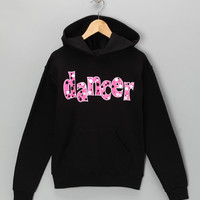 Black 'Dancer' Bubble Hoodie - Girls
