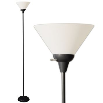 Floor Lamp with White Shade 72 Inches Tall (Model 6113)