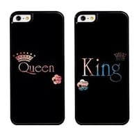 King Queen Ombre Couples Cell Phone Case