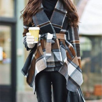 Fashion Coat Retro Long-Sleeves Cloak Coat