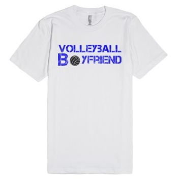 Volleyball Boyfriend T-shirt-Unisex White T-Shirt