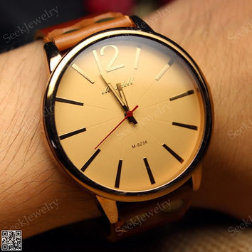 Vintage Mens wristwatches Leather Watch Classic wrist watches
