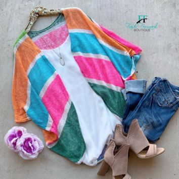 Stay in Style Striped Kimono