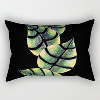 Viper Leaves Rectangular Pillow by ES Creative Designs