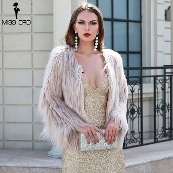 Sexy Autumn And Winter Washed Hair Fox Fur Imitation Fur Coat Long Sleeve Sweater