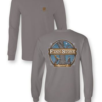 Finn Stone Apparel Coon Dog Comfort Colors Unisex Frass Bright Long Sleeve T Shirt