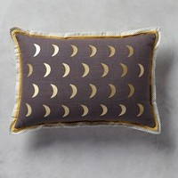 "Moonphase Pillow by Anthropologie in Dark Grey Size: 12"" X 18""  Pillows"