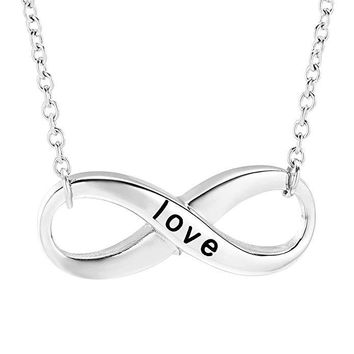 JJ002 Carved Love Infinity Cremation Jewelry Ashes Holder Keepsake Pendant Stainless Steel Memorial Urn Necklace For Women