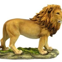 Standing Lion King of Jungle with Lifelike Details Statue