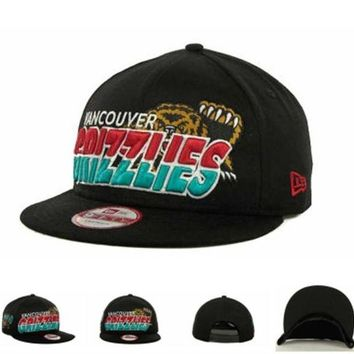 VONEED Vancouver Grizzlies Nba Hardwood Classics Team Horizon Snapback 9fifty Cap Cap Snapback Hat - Ready Stock